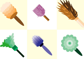 Feather Duster Vector - Free vector #364379