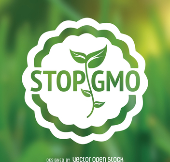 Flat design stop GMO sign - vector gratuit #364439