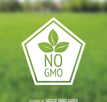 No GMO polygonal badge - Kostenloses vector #364489