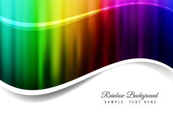 Free Vector Rainbow Background - Free vector #364599