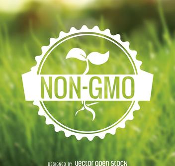 Non GMO food badge - бесплатный vector #365069