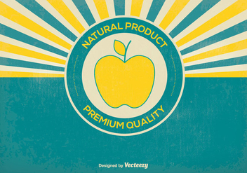 Retro Natural Product Illustration - vector gratuit #365119