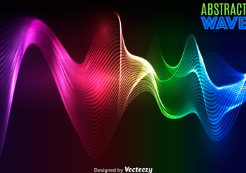 Vector Abstract Colorful Wave - Free vector #365389