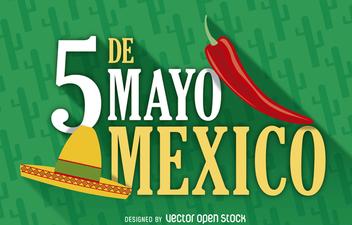 Mexico 5 de mayo poster - Free vector #365579