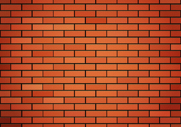 Free Red Brick Wall Vector - vector gratuit #365889