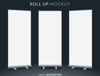 Roll up mockup - vector gratuit #365969