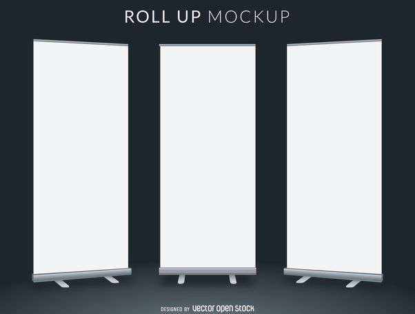 Roll Up Mockup Free Vector Download 365969 Cannypic