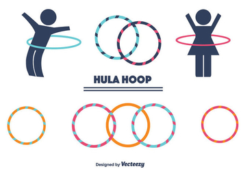 Hula Hoop Vector Set - Kostenloses vector #366089