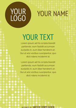 Flyer design template - vector gratuit #366179