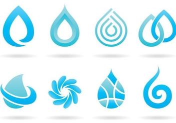 Water Logos - vector #366269 gratis