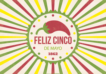 Retro Cinco de Mayo Illustration - vector gratuit #366519