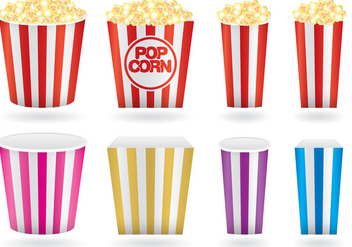Popcorn Boxes - Free vector #366839