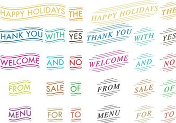 Decorated Words - vector gratuit #366989