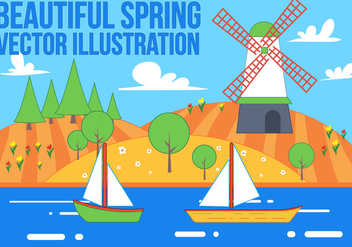 Free Spring Background Vector - Free vector #367069