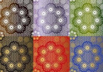 Set Lace Texture Vectors - Free vector #367149