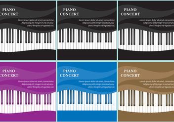 Wavy Piano Vectors - Free vector #367159