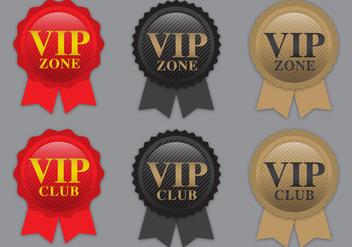 VIP Ribbon Vectors - Free vector #367309