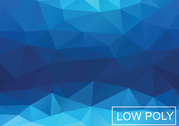 Blue Geometric Triangular Background - vector gratuit(e) #367399