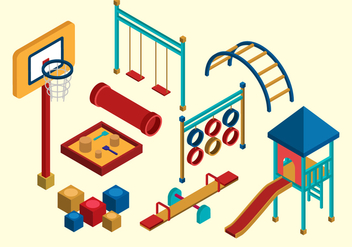 Free Isometric Kids Playground - vector gratuit #367669