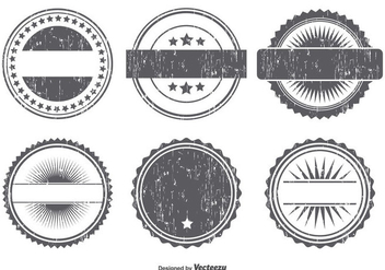 Grunge Badge Shape Set - Kostenloses vector #367679