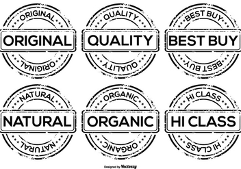 Promotional Vector Grunge Badges - vector gratuit #367759