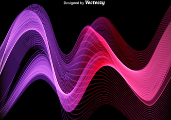 Pink And Purple Abstract Modern Wave - vector gratuit #367859