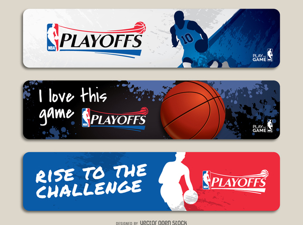 NBA playoffs banner set - бесплатный vector #367899