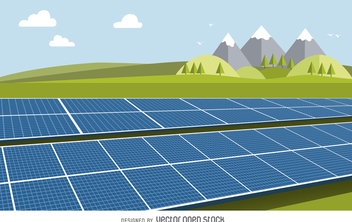 Solar panel drawing - Kostenloses vector #367939