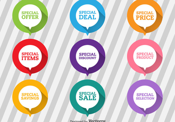 Special Offer Flat Labels - vector gratuit #368009