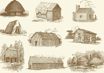 Huts And Shacks - vector gratuit #368129