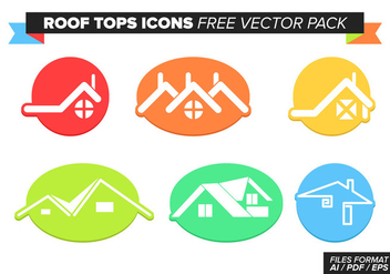 Roof Tops Free Vector Pack - бесплатный vector #368339