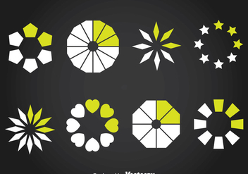 Preloader Element Set Vector - Kostenloses vector #368399