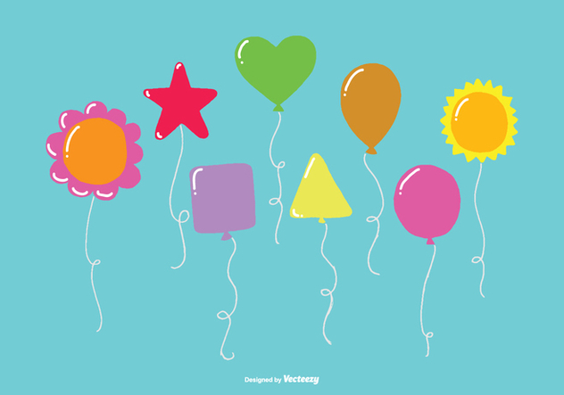 Fun Balloon Vector Pack - vector gratuit #368439