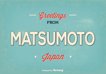 Matsumoto Japan Greeting Illustration - vector gratuit #368799