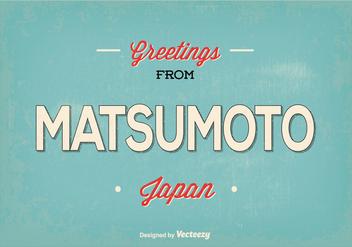 Matsumoto Japan Greeting Illustration - Kostenloses vector #368799