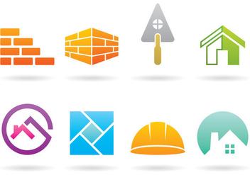 Bricklayer Logos - бесплатный vector #368869