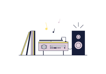 Free Record Player Vector - vector gratuit #368979
