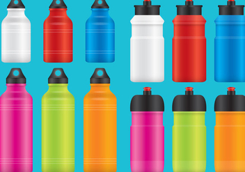 Aluminum Water Bottles - vector gratuit #368989