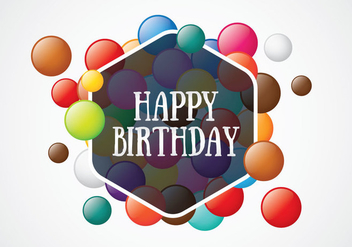 Smarties Birthday Card - Free vector #369019