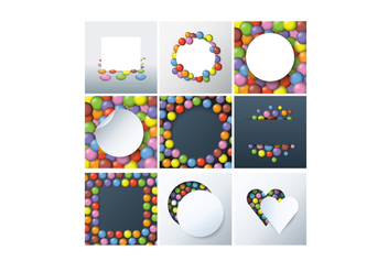 Free Smarties Background Vectors - vector gratuit #369129