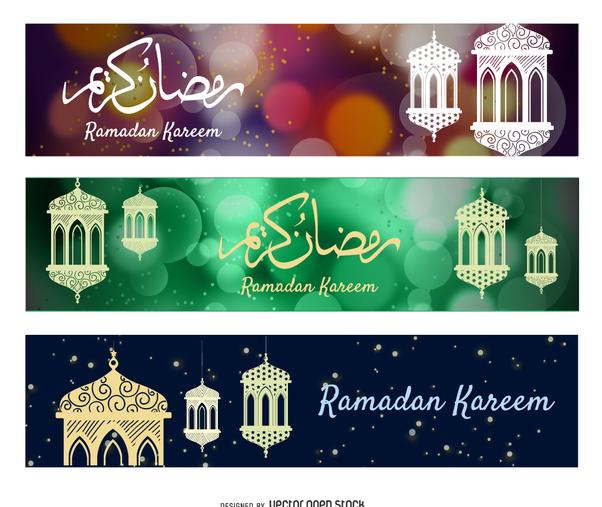 Ornamental Ramadan banners - vector #369139 gratis