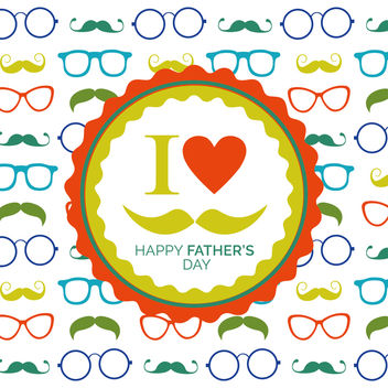 Father's Day glasses pattern - Free vector #369219