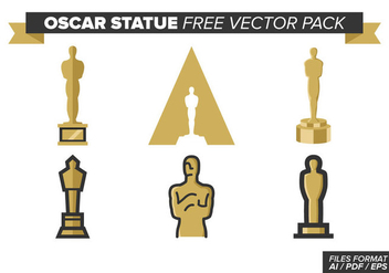 Oscar Statue Free Vector Pack - Free vector #369259