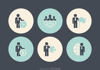 Free Business Man Icon Vectors - Free vector #369399