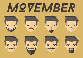 Movember Dudes Vector - Free vector #369449