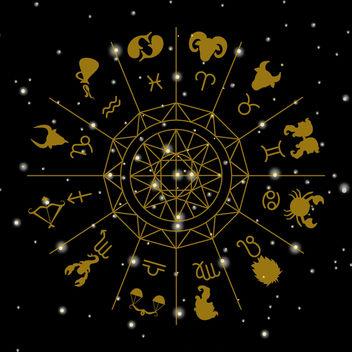 Zodiac signs circle illustration - Free vector #369479