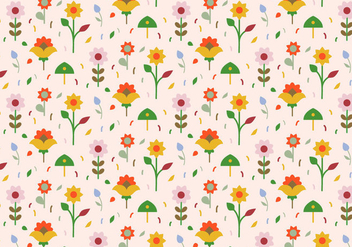 Pastel Flowers Pattern Background - vector gratuit #369729
