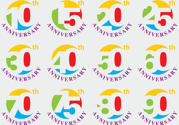 Anniversary Titles - vector gratuit #369789