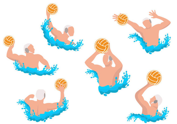 Water Polo Athletes Vector - vector gratuit #369959
