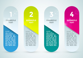 Bullet Points Infographics Elements Vector 3 - Kostenloses vector #370009
